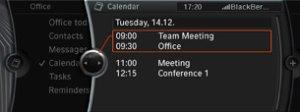 Bluetooth Calendar Sync - Synchroniser un BlackBerry avec une BMW