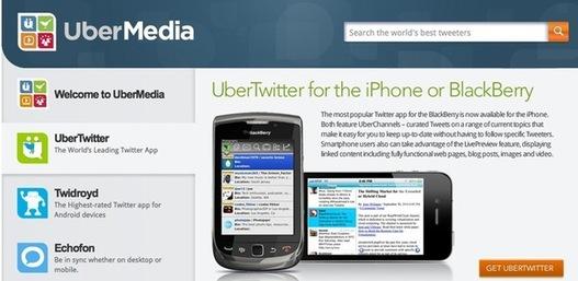 L'application UberTwitter et Twidroyd bloquées par Twitter