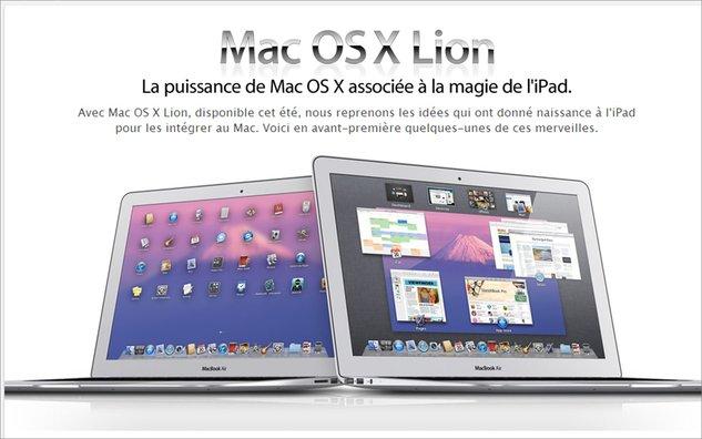 Apple nous donne un aperçu du prochain Mac OS X Lion