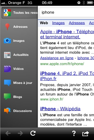 Google Mobile App  - Enfin une vraie application pour iPhone