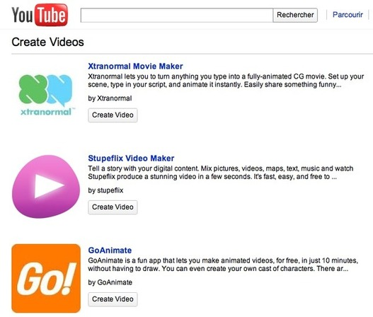Youtube Create pour créer des vidéos sans caméra