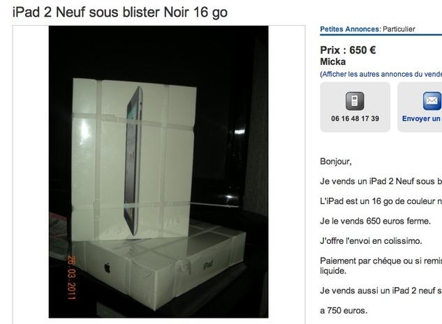 iPad 2 - Un objet rare pour collectionneurs ?