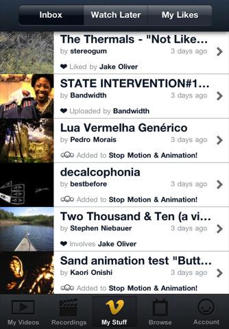 Vimeo sort son application sur iPhone !