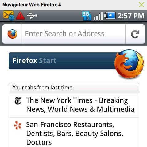 Télécharger Firefox 4 sur Android