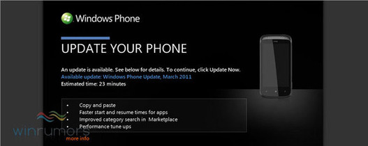 Windows Phone 7 - Orange commence à déployer la mise à jour NoDo