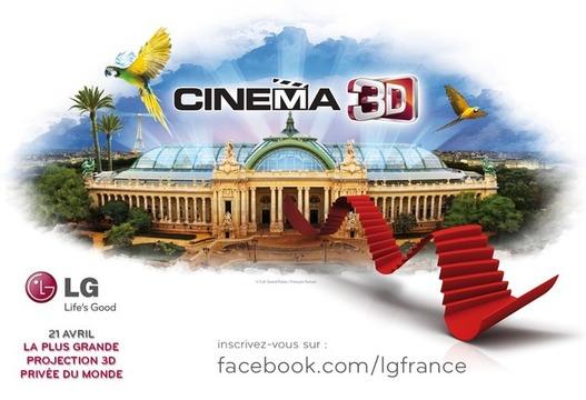 LG vous invite à la plus grande projection 3D au monde