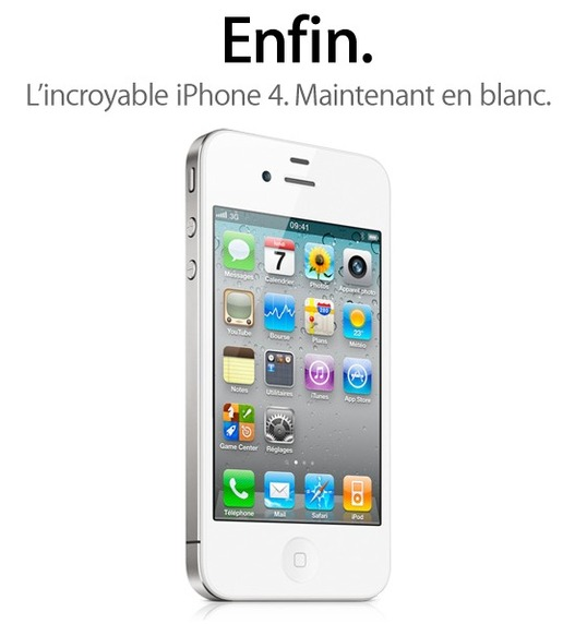 Incroyable !!! L'iPhone 4 blanc