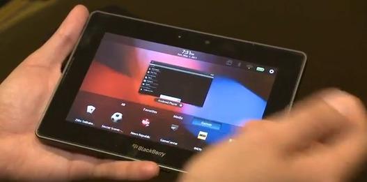 Les applications Android tournent sur la Blackberry Playbook ( démo vidéo )