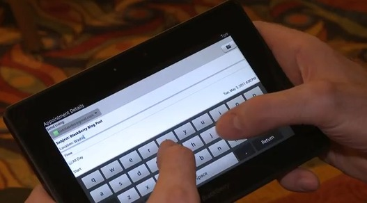 Blackberry Playbook - Démo vidéo de l'application Mail