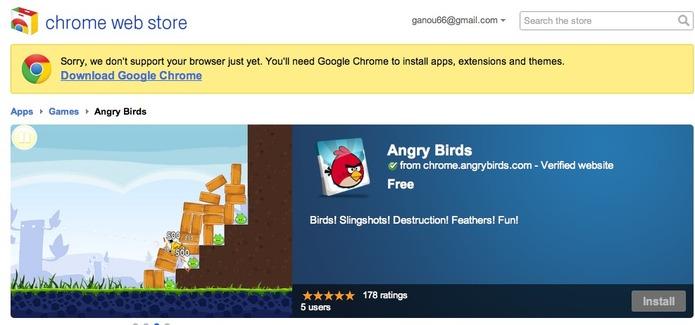 Angry Birds débarque sur Google Chrome