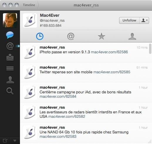 Twitter - Refonte de la version mobile et Mac