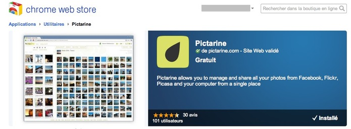 Pictarine maintenant sur Chrome Web Store