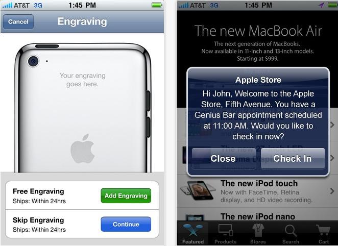 L'application Apple Store sur iPhone évolue comme les Apple Store 2.0