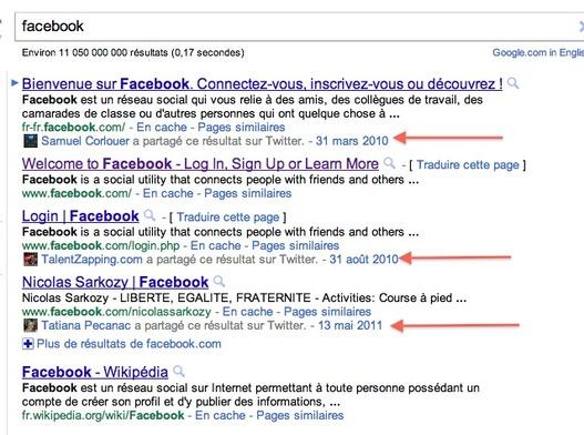 Google devient social sur son moteur français