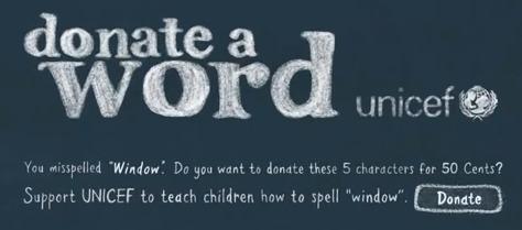 Donate a Word - Une campagne de Google Chrome pour l'UNICEF