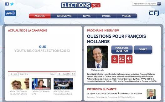 Youtube Elections 2012 - Les présidentielles démarrent le 1er juin sur Youtube