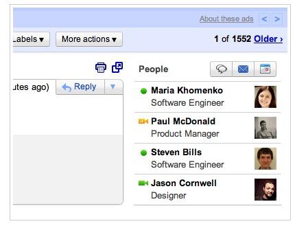 Widget People Gmail - L'option qui manquait à Gmail