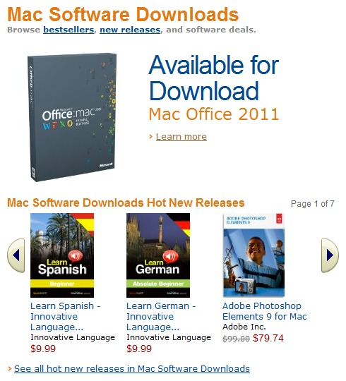 Amazon lance le Mac Download Store