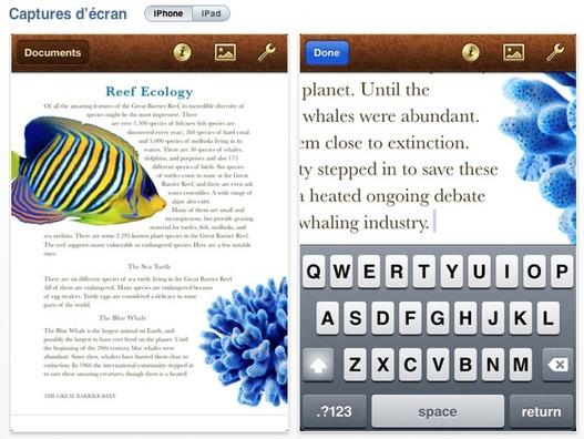 iWork maintenant sur iPhone ( Keynote, Pages, Numbers )