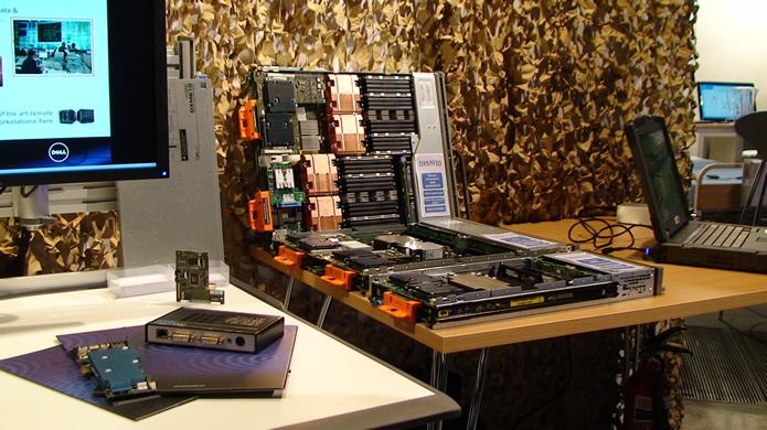 Système de Blade PC basé sur un système Dell modifié par Amulet Hotkey