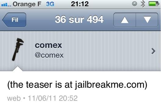 JailbreakMe pour le Jailbreak de l'iPad 2 by Comex