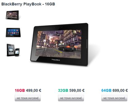 La Playbook fait son arrivée en France (tarifs et disponibilités)