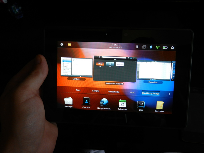 Playbook - Un rapide aperçu en vidéo du Blackberry Bridge