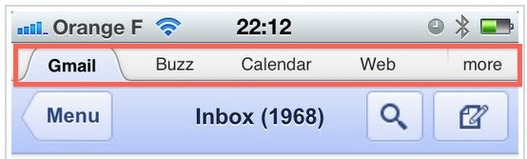 Gmail mobile évolue encore, des onglets sont apparus