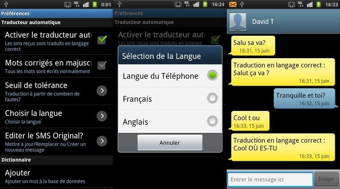 SMS Corrector - Le langage SMS devient compréhensible