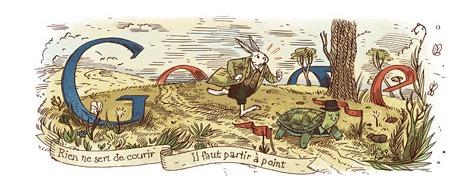 Jean de La Fontaine à l'honneur sur Google