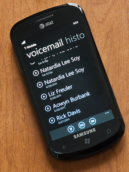 Voice Mail arrive sur les Windows Phone 7