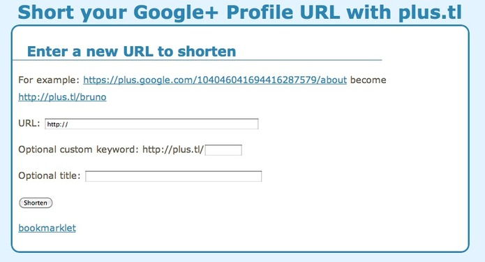 Un moyen de raccourcir son adresse Google +