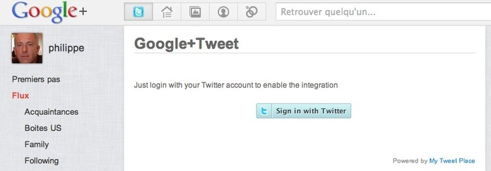 Twitter complètement intégré à Google +