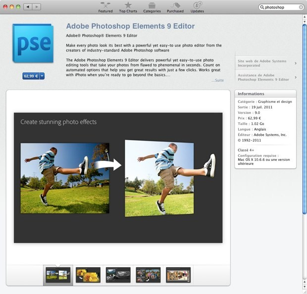 Adobe désormais présent sur le Mac App Store