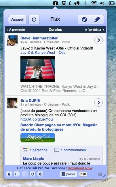 Avoir Google Plus sur la barre de menu de votre Mac ça vous dit ?