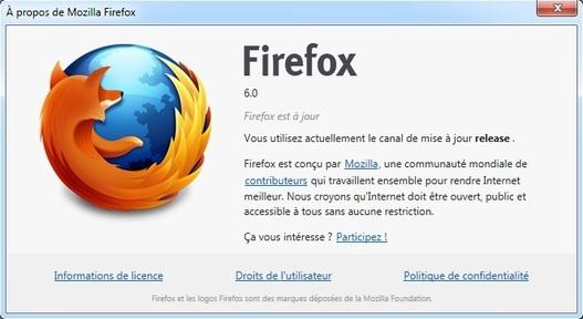 Mozilla Firefox 6 est disponible