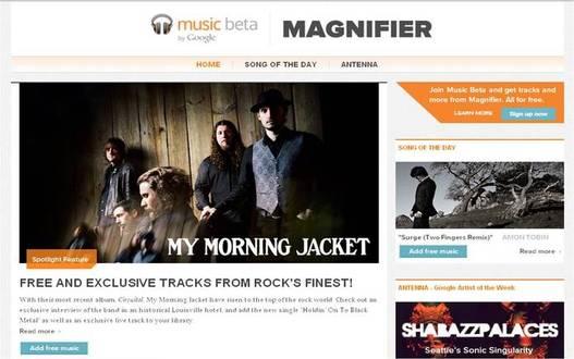 Google Magnifier- Le blog officiel de Google Music pour promouvoir de nouveaux artistes