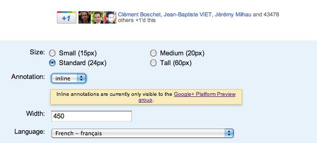Google ajoute les +1 de vos amis au bouton +1 sur les sites