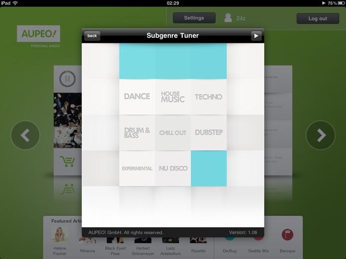 Aupeo: une nouvelle expérience de la musique sur iPad