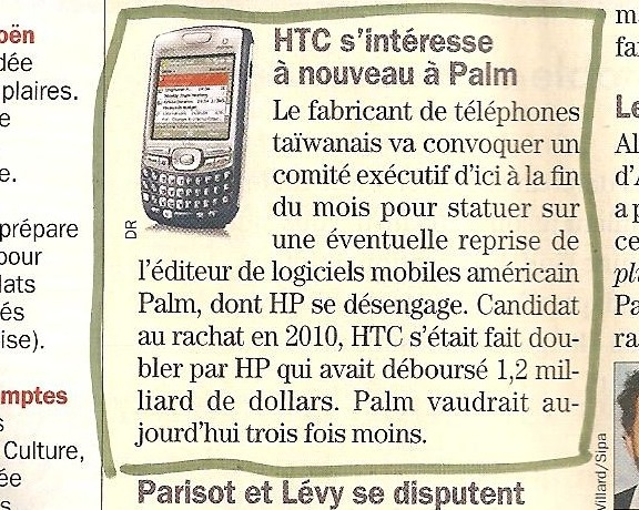 HTC fera t il revivre PALM ?