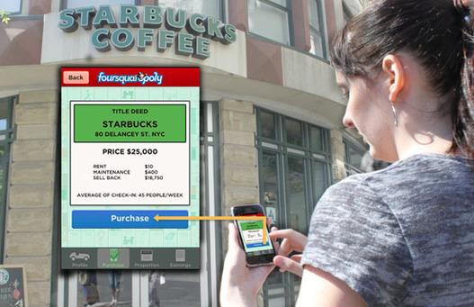 Foursquare + Monopoly = Foursquaropoly