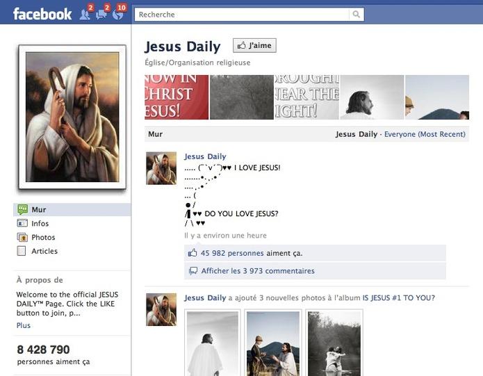 Jesus fait un carton sur Facebook