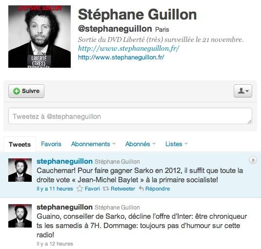 Stephane Guillon sur Twitter - Chronique en 140 caractères