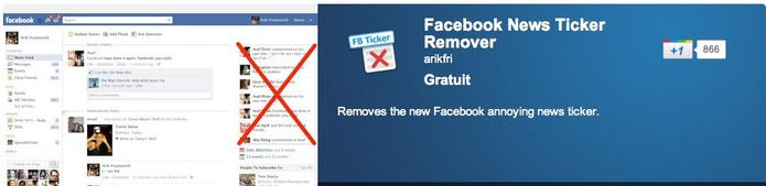 Comment supprimer Facebook Ticker