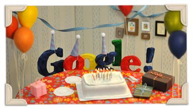 Google fête ses 13 ans
