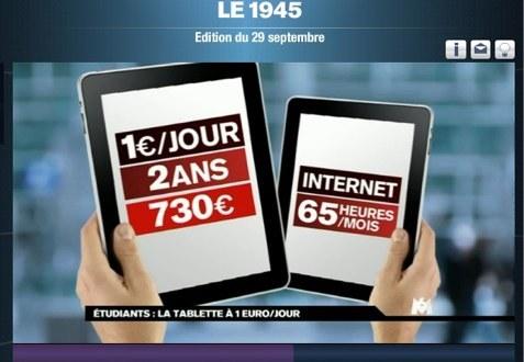 """Le gouvernement lance """"la tablette à 1€ par jour"""" pour les étudiants"""