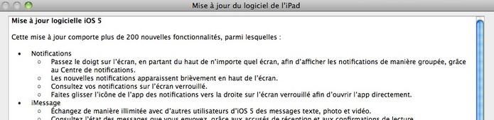 Télécharger iOS 5 pour iPhone, iPad et iPod Touch