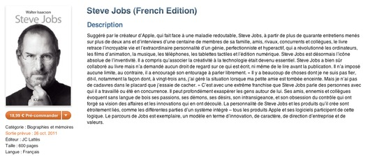 La biographie de Steve Jobs sur iPad, iPhone et iPod Touch
