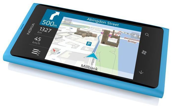 Test de l'écran du Nokia Lumia 800 au soleil