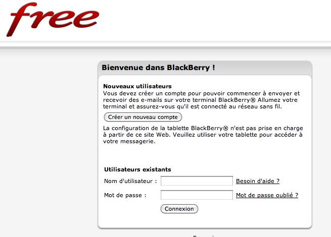 Free Mobile - La page Blackberry est active et Phone House est prêt